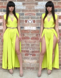 Yellow Open Aside Jumpsuit