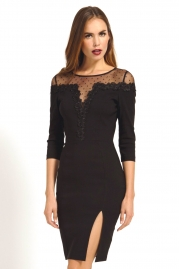 Brief Black Long Sleeve Dress