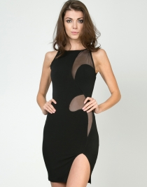 Black Sleeveless Club Dress