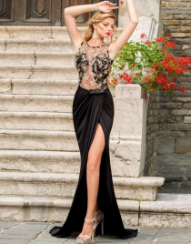Elegant Long Evening Dress With Mermaid Style