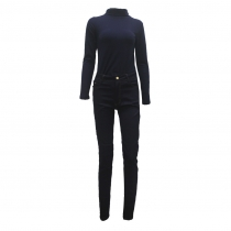 Fashion Long Sleeve Bodycon Jumpsuit