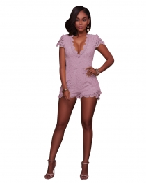 Pink Lace Sexy Fitting Rompers