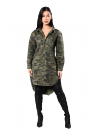 Trendy Camouflage long Sleeve Blouse